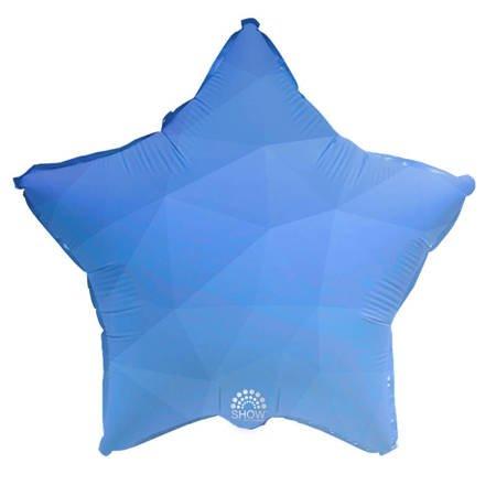 """Foil Star, Blue Gradient 18"""" (45cm.)"""