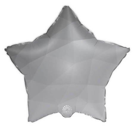 """Foil Star, Silver Gradient 18"""" (45cm.)"""