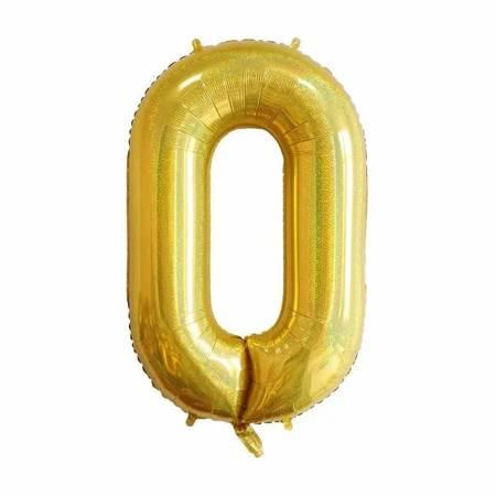 "Number ""0"" Gold Glitter ( 100cm.)"