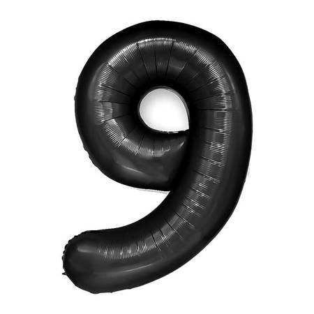 """Number """"9"""" Black (100cm.)"""