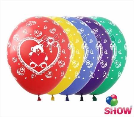 """Balony """"Zakochany miś"""" (10 szt.)"""