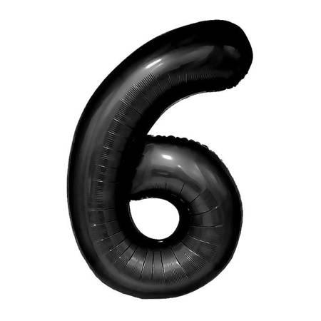 "Cyferka ""6"" Czarna (100cm.)"