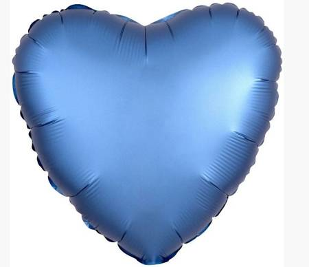 """Serce Foliowe Niebieskie 18"""" (45cm.)"""