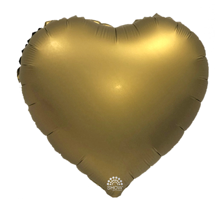 """Serce Foliowe Złote 18"""" (45cm.)"""